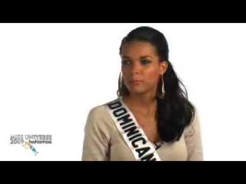 Miss Dominican Republic Universe 2009 Interview