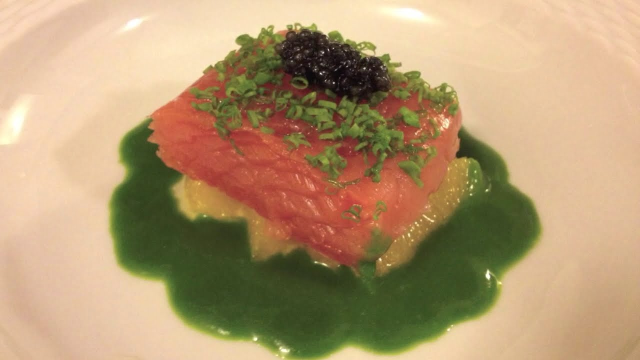 Citrus Marinated Salmon: Cooking The French Laundry - YouTube