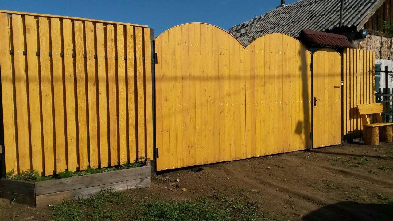 Ютуб деревянные ворота своими руками 7