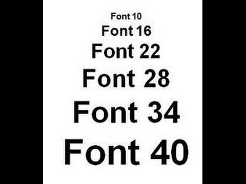 Font size for poster