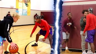 1v1 Basketball VS Random People At LA Fitness!