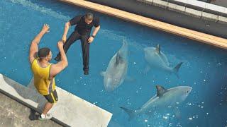 GTA 5 Epic jumps into pools [Euphoria physics | Funny moments]