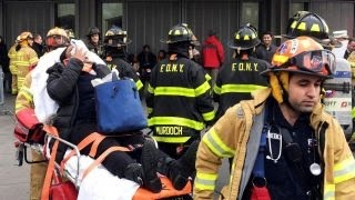 Over 100 injured in train accident in Brooklyn