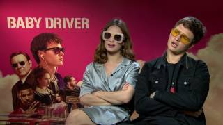 Ansel Elgort & Lily James reveal their coolest, favourite moment in Baby Driver