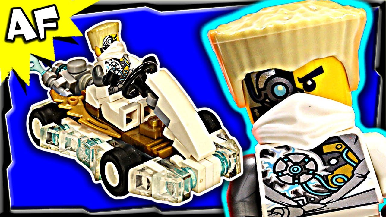 zanes white ninja gokart custom lego ninjago rebooted