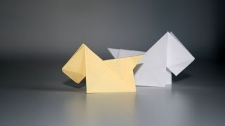 Origami Tutorial - Scottish Terrier