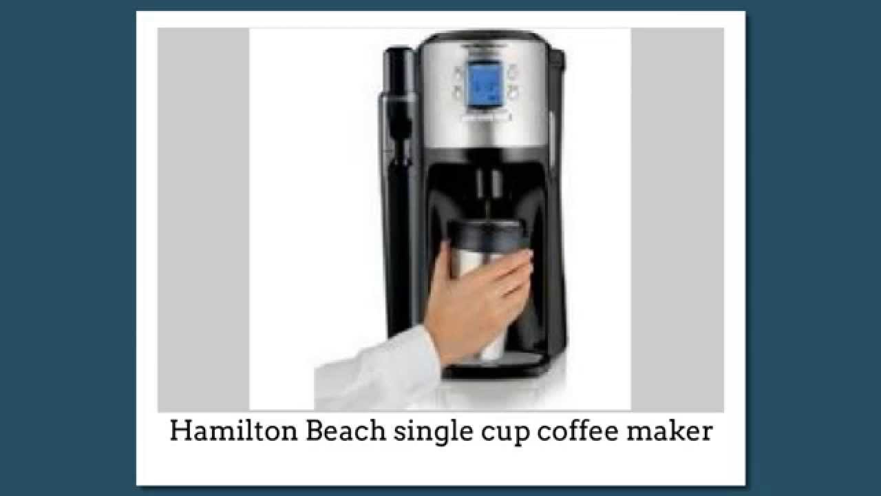 K Cup Coffee Maker Not Working : Hamilton Beach Single Cup Coffee Maker - YouTube