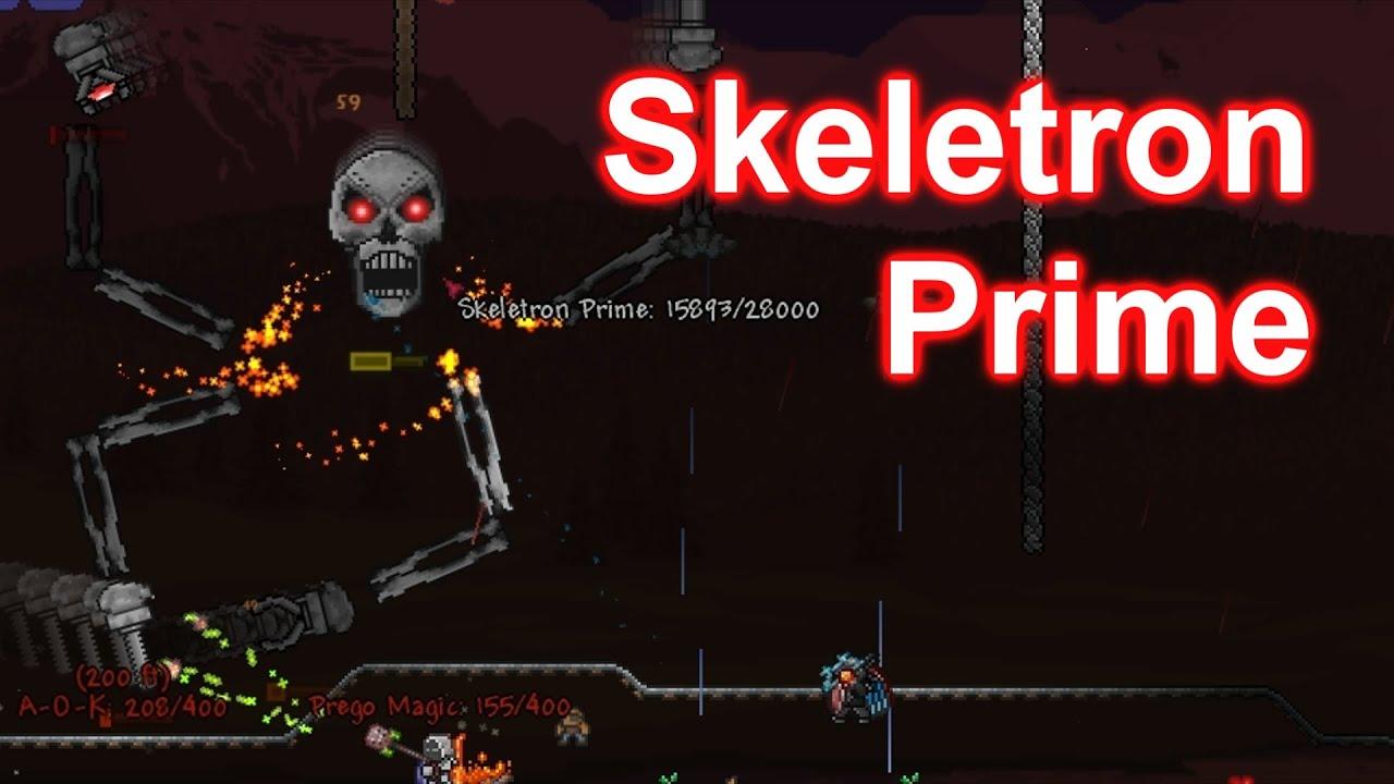 Как сделать скелетон прайм в террарии