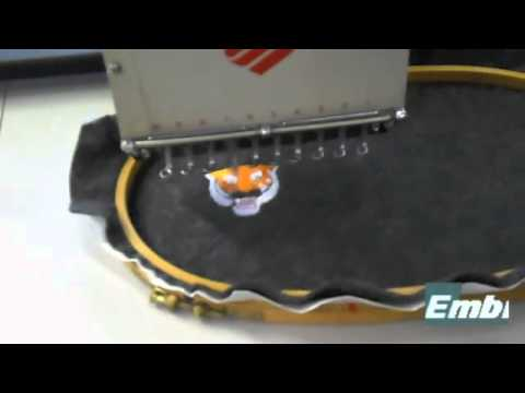 melco emc6 commercial embroidery machine