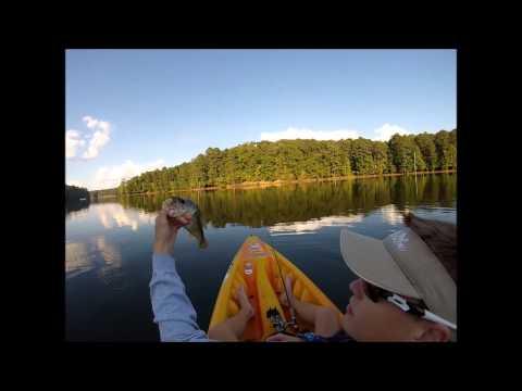 Kayak Bass Fishing Lake Allatoona 10-1-13 (GoPro)