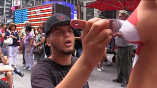 NAKED TRUTH About  the Times Square TOPLESS Painted Ladies 8/31/15