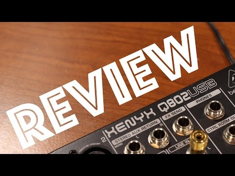 Behringer Q802USB Setup and Review