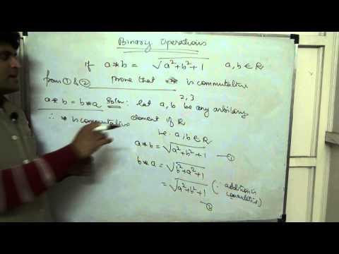 Binary Operations Class 12 XII CBSE