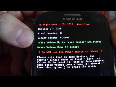 [Android App] Quitar triangulo y Poner el contador de Flaseos a 0