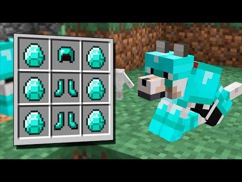 ¡ ARMADURAS DE DIAMANTE PARA PERROS !   Minecraft Survival