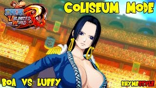 One Piece Unlimited World Red: Coliseum Special Battle! Boa Hancock vs Luffy