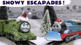 Thomas and Friends Christmas Prank Toy Accident Story Carols Tom Moss Train Set Toys