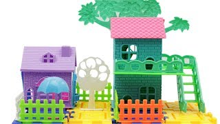 Beautiful Toy Tree House Making with Blocks for Kids