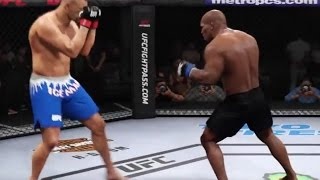 EA sports UFC 2 MIKE TYSON vs CHUCK LIDDELL knockout mode Gameplay