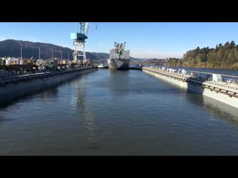 North America's biggest drydock gets it's first ship the SS Algol