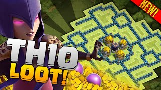 Clash of Clans Town Hall 10 Farming (CoC TH10) BEST LOOT FARMING Base 2015