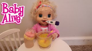 BABY ALIVE Hayley Has A Cold Feeding Chicken Soup