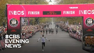 Eliud Kipochoge breaks marathon barrier with race completed in under 2 hours