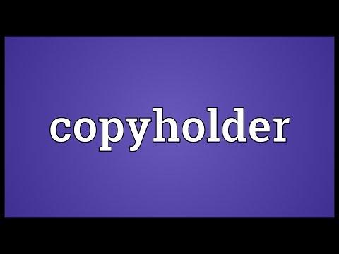Header of copyholder