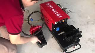 Máy uốn cắt sắt cây hai trong một cải tiến - ít thao tác - Tự động hoàn toàn. LH: 0989915951