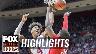 Ohio State's free fall continues as Buckeyes fall to Indiana, 66-54 | FOX COLLEGE HOOPS HIGHLIGHTS