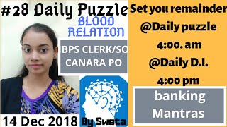 #28 Canara Bank PO & IBPS SO/clerk Reasoning | Daily Puzzle | Solve in Minutes| bY BANKING MANTRAS