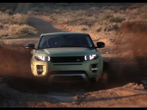 Off road in a Range Rover Evoque