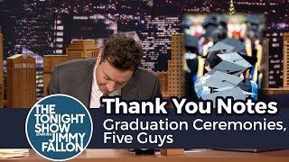 Thank You Notes: Graduation Ceremonies, Five Guys