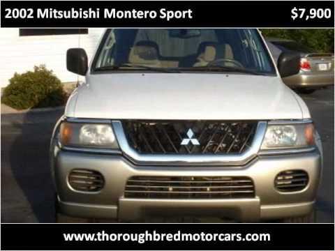 2002 Mitsubishi Montero Sport Used Cars Prattville AL
