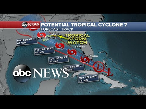 Severe weather runs rampant as a tropical storm targets the Gulf