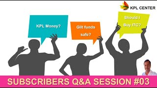 SUBSCRIBERS Q&A SESSION#03 | EVERYTHING ABOUT PERSONAL FINANCE FOR BEGINNERS| TAMIL | KPL CENTER |GK
