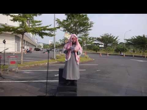 Shalat iedul Fitri di lapangan parkir kepri mall simp kabil Batam