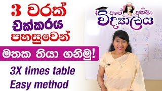 3 x table Easy method by Apé Amma Vidyalaya