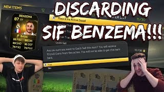 OMFG DISCARDING SIF BENZEMA!!!! FIFA 15 DISCARD PACK CHALLENGE! Craziest Discard Packs EVER!!!