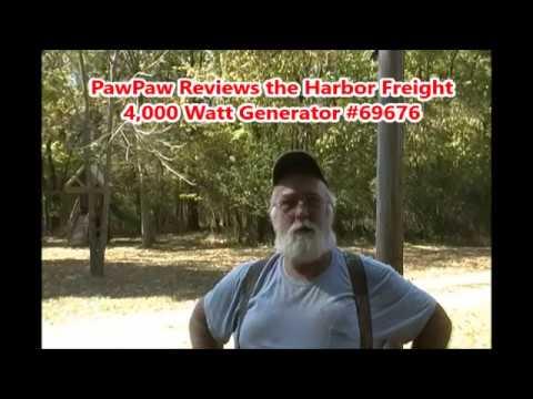 PawPaw Reviews the Harbor Freight 4000 Watt Generator #69676