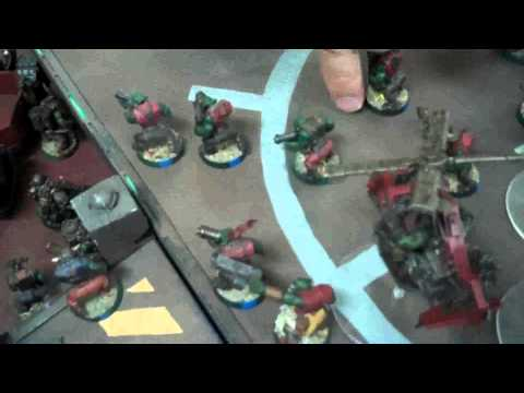 Orks vs Space Marines 02 Warhammer 40K Battle Report (Mesa Starport)