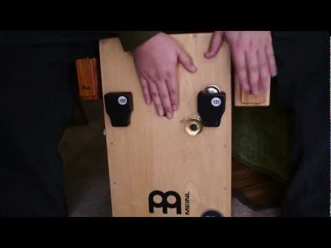 Cajon Accessories Demo - cajon jingles, woodblock, clave block, castanet, jingle castanet