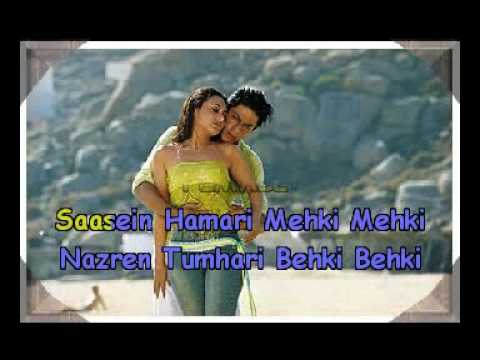 Tauba Tumhare Yeh Ishare Karaoke Hindi Song. Alka And Abhijit. Chalte Chalte..flv video