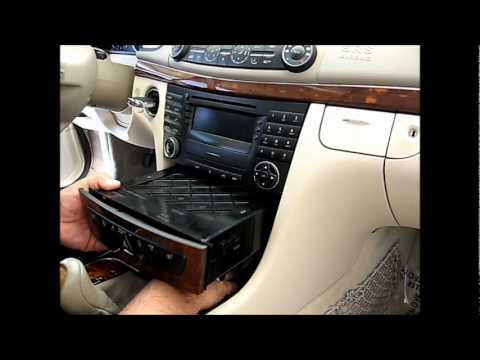 How to Remove Radio / Navigation / CD Player from Mercedes E320 E350 for Repair