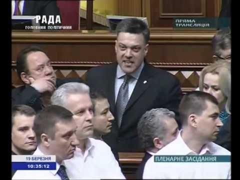 Бійка у ВР під час виступу Олега Тягнибока