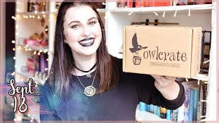 OWLCRATE UNBOXING SEPTEMBER 2018 | Book Roast