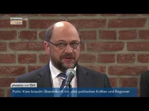 SPD-Klausurtagung: PK mit Jean-Claude Juncker, Sigmar Gabriel und Martin Schulz am 09.02.2015