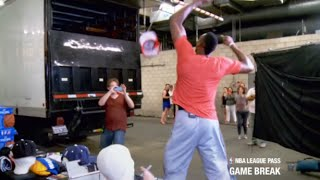 Funny Mannequin Prank on NBA Players (Dwight Howard freaks out)