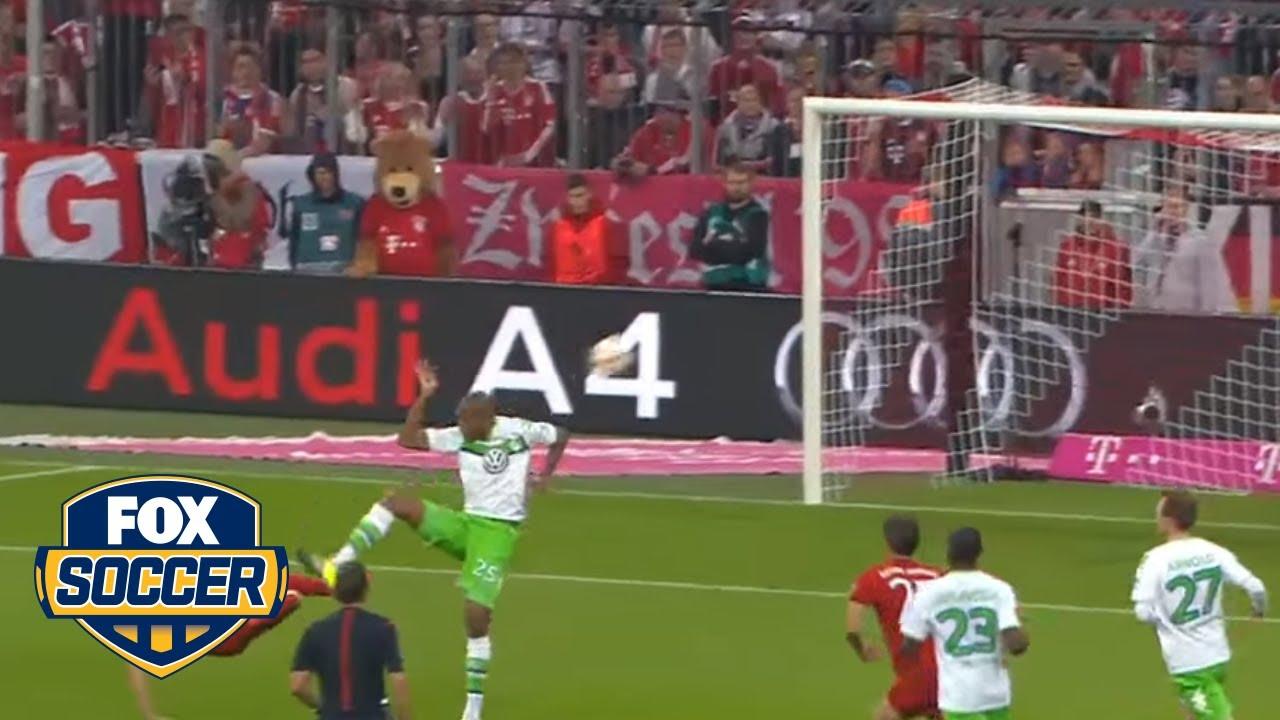 Robert Lewandowski scores five goals in 9 minutes   Bayern Munich vs  Wolfsburg