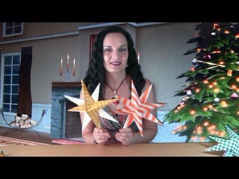 """Проект """"Новый Год"""" - Объемная 3D Звезда из Бумаги"""